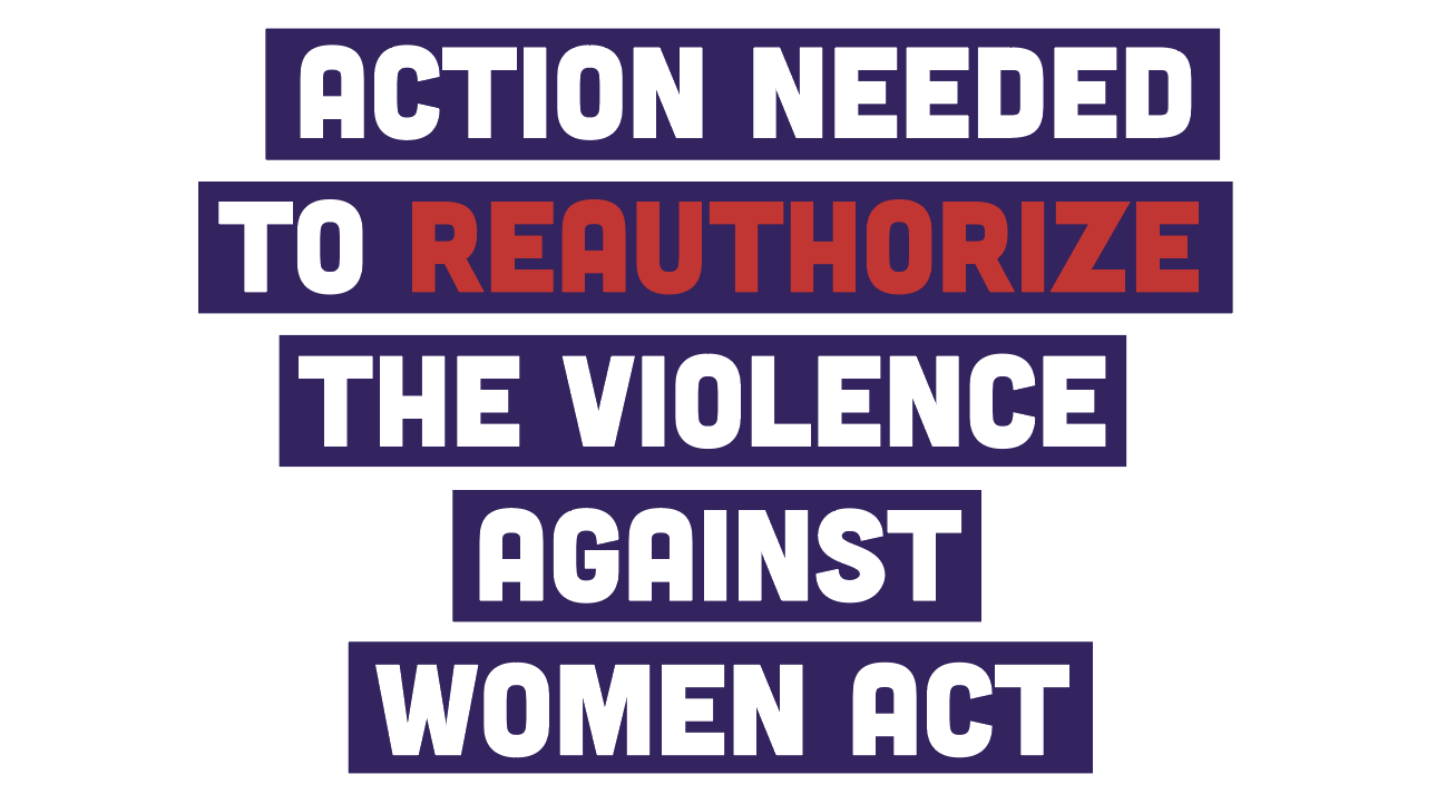 Action Needed to reauthorize the Violence Against Women Act