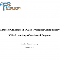 Advocacy Challenges in a CCR: Protecting Confidentiality While Promoting a Coordinated Response