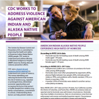 CDC Violence Against American Indian and Alaska Native People