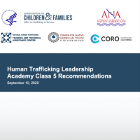 Human Trafficking Leadership Academy Class 5 Recommendations